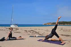 Croisière yoga plage