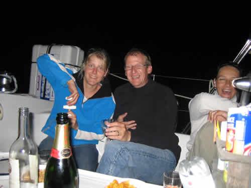 Apéro night sur une location de voilier en Corse