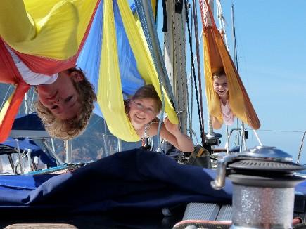 Hamacs en tumultes sur cette croisière famille en Corse