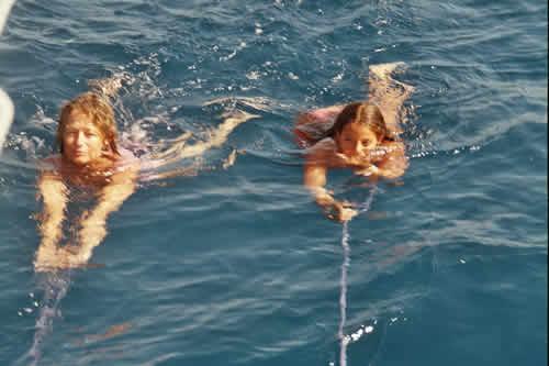 Hydromassage lors d'une location de voilier en Corse avec skipper