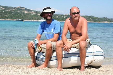 Sud Corse, une pause plage avant de repartir sur le voilier de location
