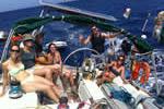 A la gite sur un voilier moncoque loué en Corse avec skipper