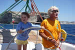 Apprentissage sous contrôle du skipper pour cette croisière en famille