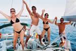 Croisière à la cabine festive à bord d'un voilier en Corse avec skipper