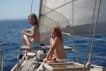 Instant de grâce sur une croisière en famille sur un voilier loué avec skipper