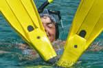 Palmes masque tuba sur une croisière à la voile en Corse
