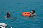 Un espace de détente sur une croisiere à la voile en Corse